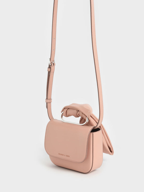 Knotted Wristlet Bag, Blush, hi-res