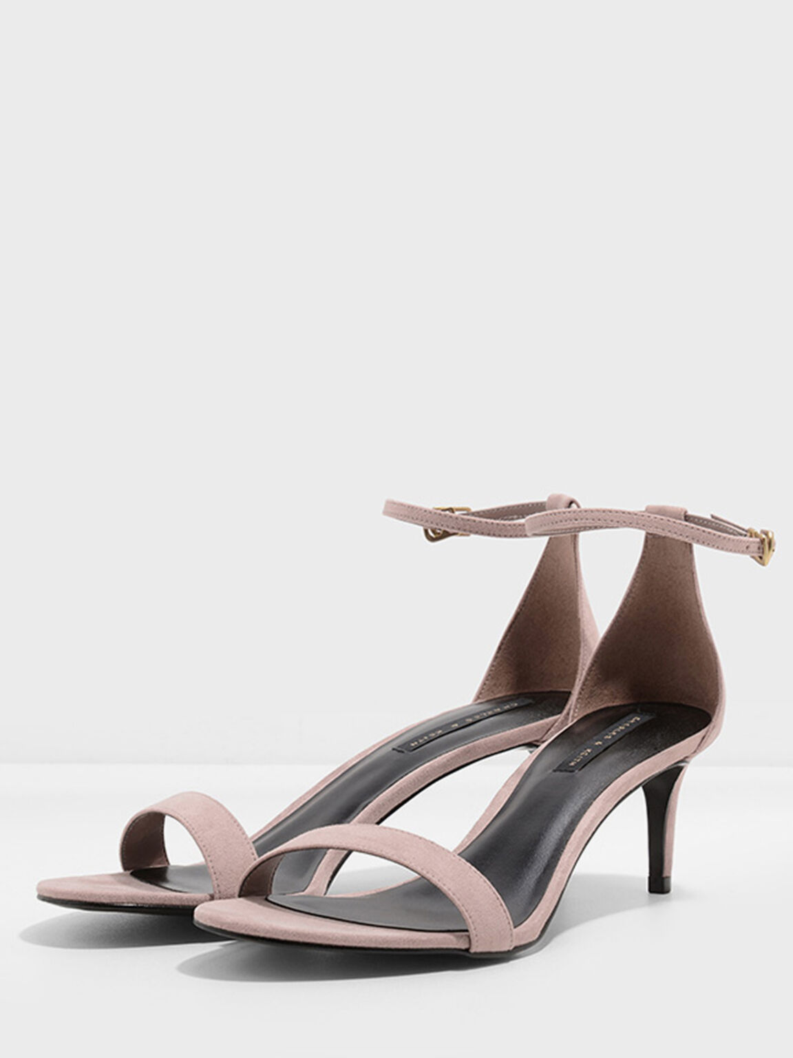 繞踝細跟涼鞋, 灰褐色, hi-res