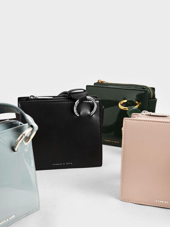 Square Crossbody Bag, Black, hi-res