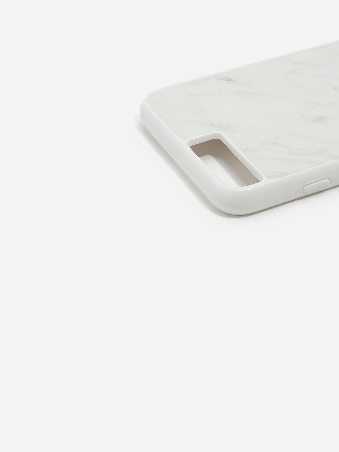 iPhone 7 Plus/8 Plus Marble Case, White, hi-res