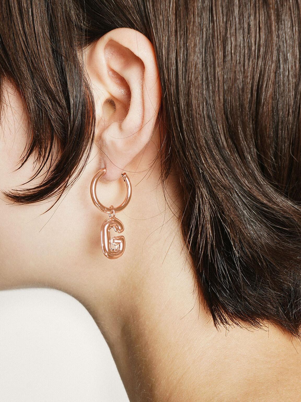 Hoop Earrings, Rose Gold, hi-res