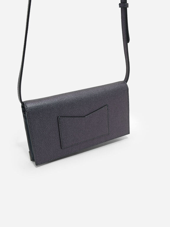 Metallic Tip Wallet, Peacock, hi-res