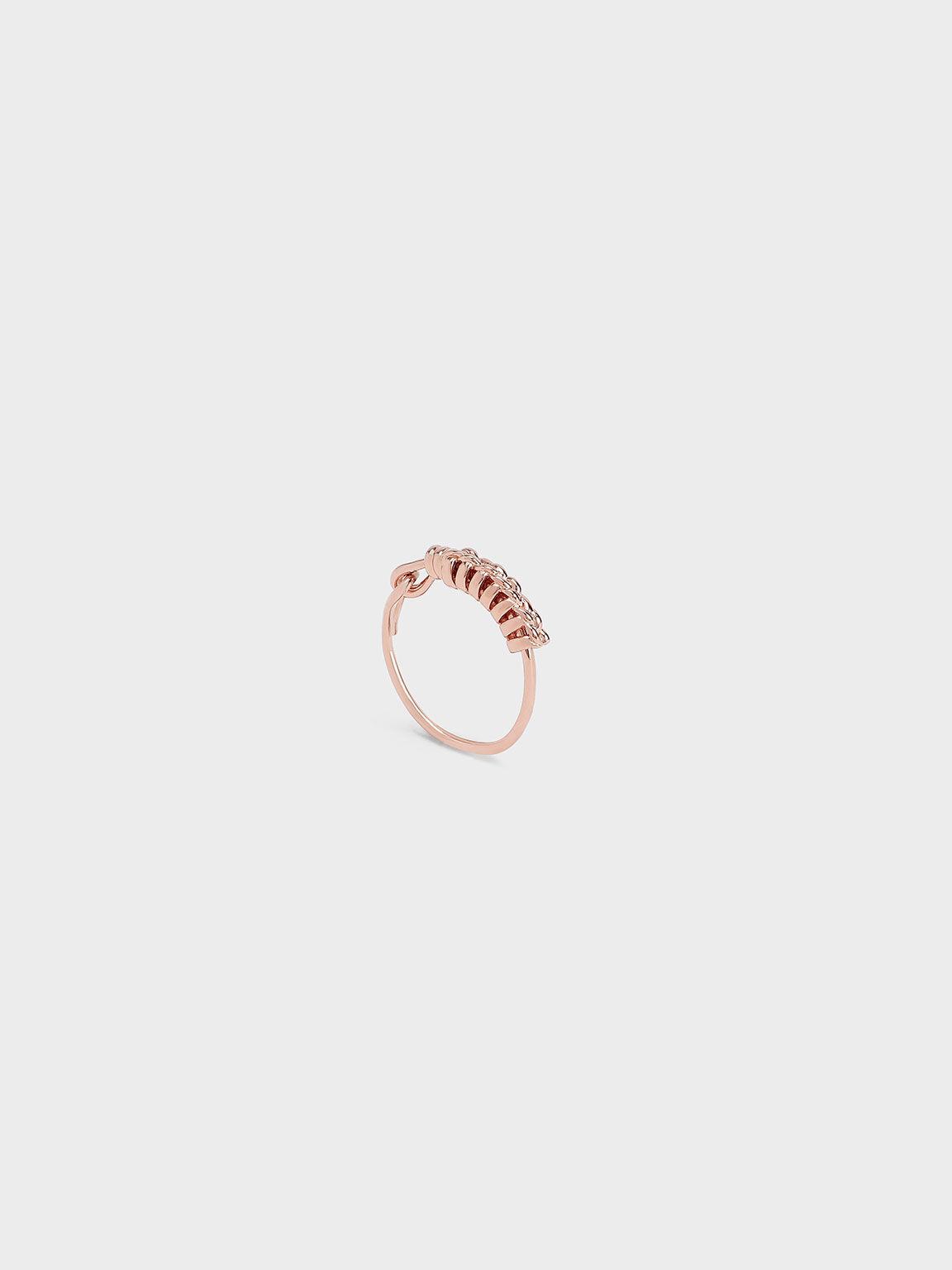 Twist Ring, Rose Gold, hi-res