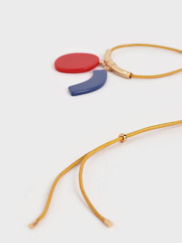 Acetate Multi Charm Necklace, Multi, hi-res