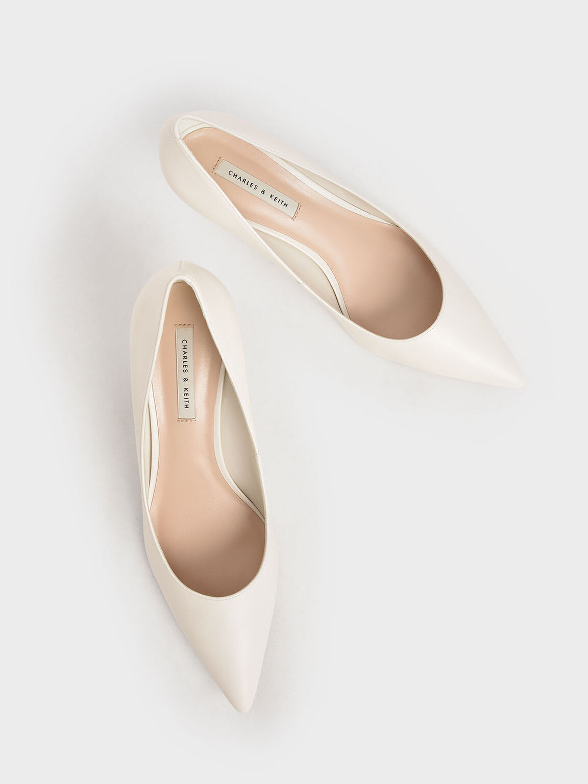 Classic Pointed Toe Pumps, Chalk, hi-res