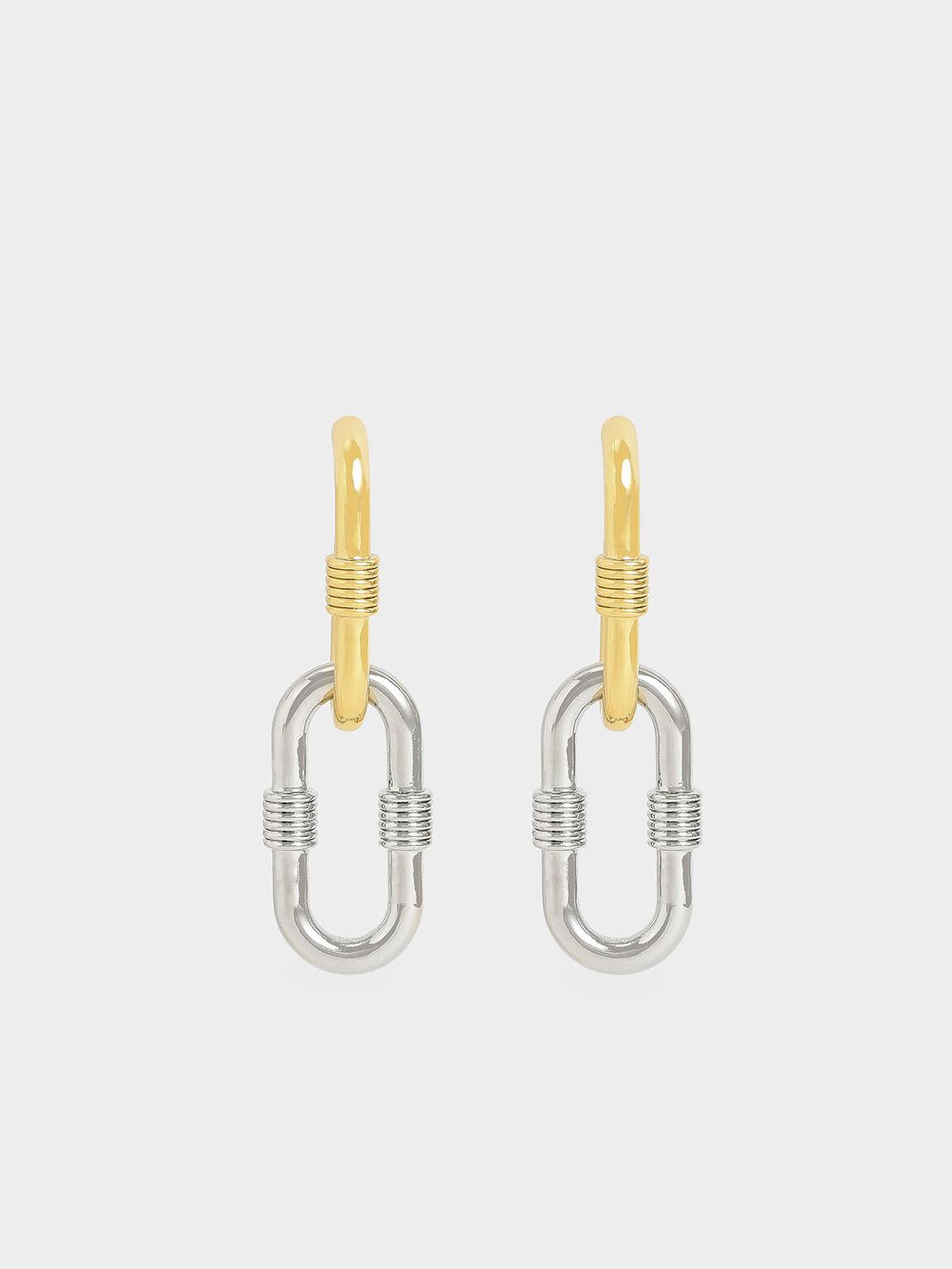 兩用金屬環耳墜, 混色, hi-res