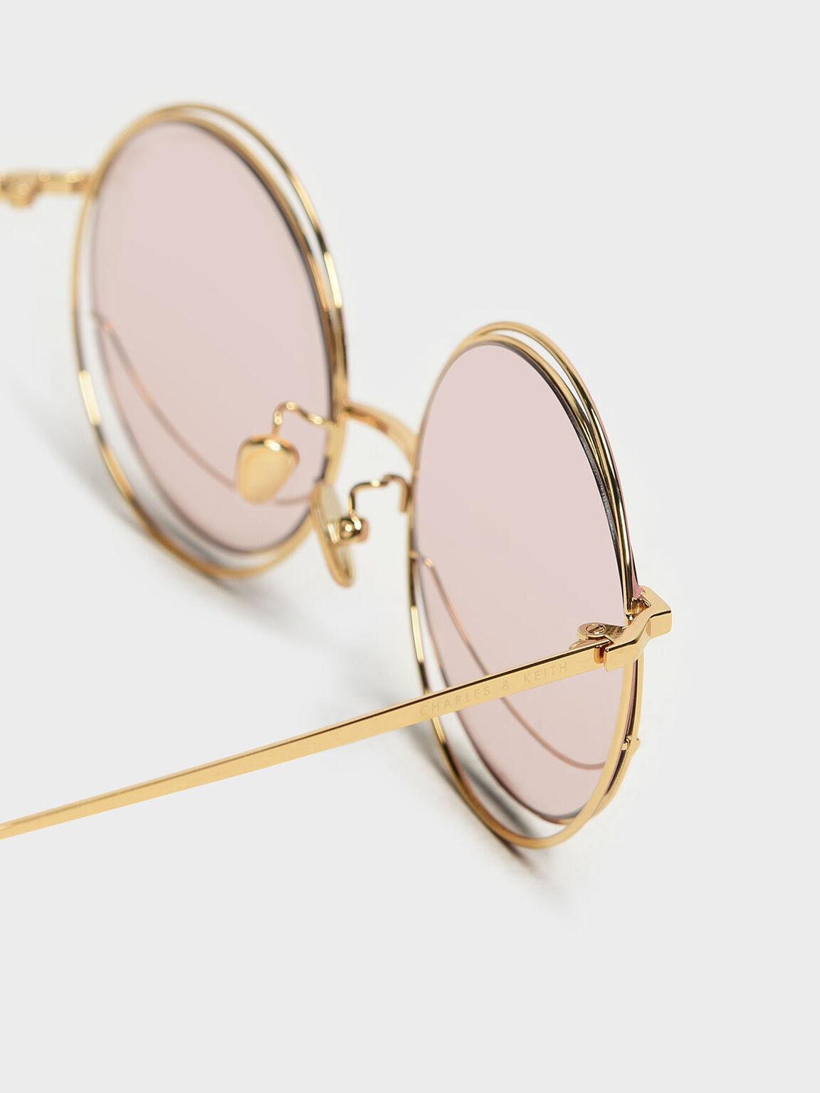 Circle Frame Sunglasses, Pink, hi-res