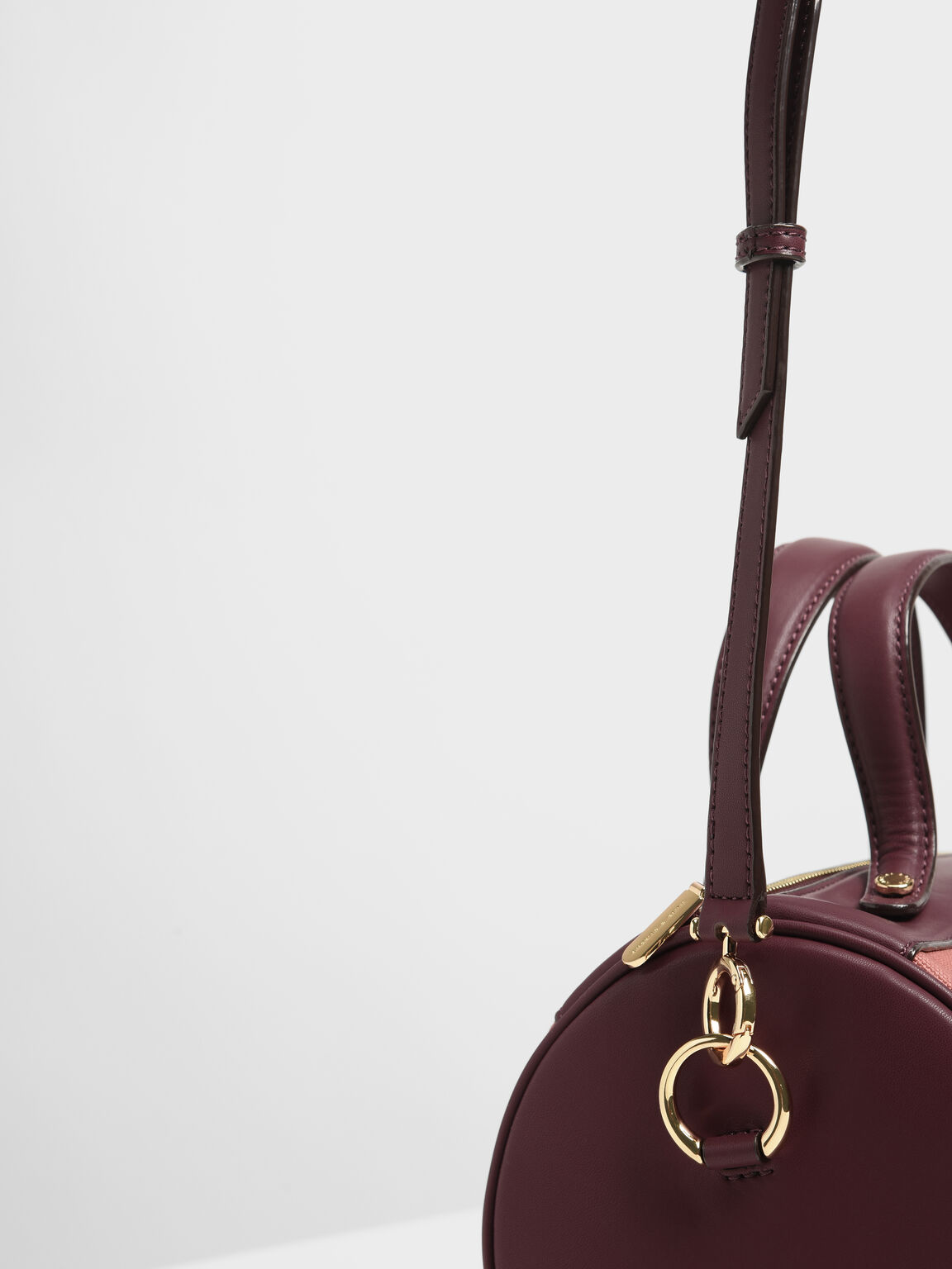 Mini Duffle Crossbody Bag, Burgundy, hi-res