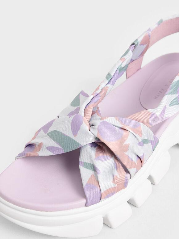 Printed Fabric Sports Sandals, Multi, hi-res