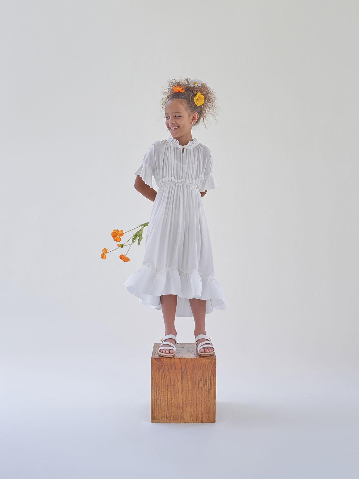 兒童寬帶休閒涼鞋, 白色, hi-res