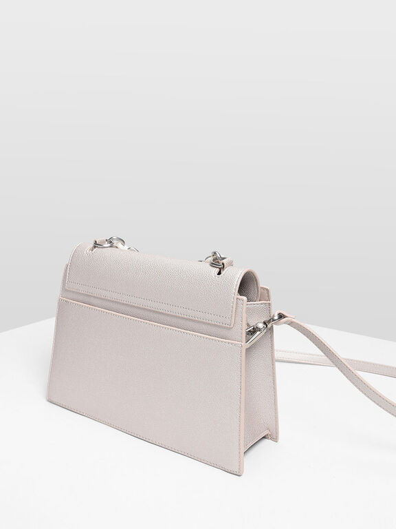 Chain Handle Handbag, Pearl
