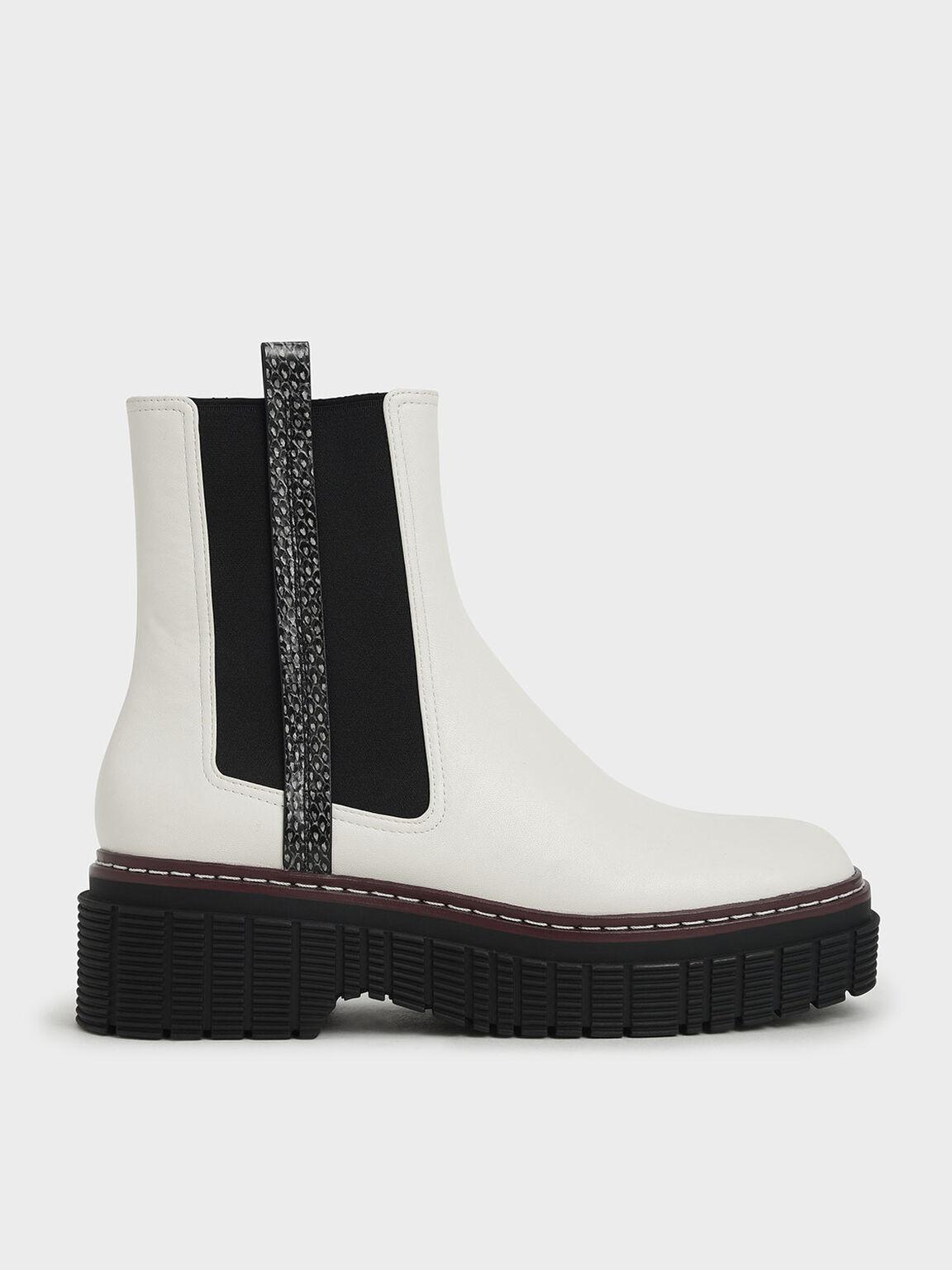 車線厚底短靴, 混色, hi-res