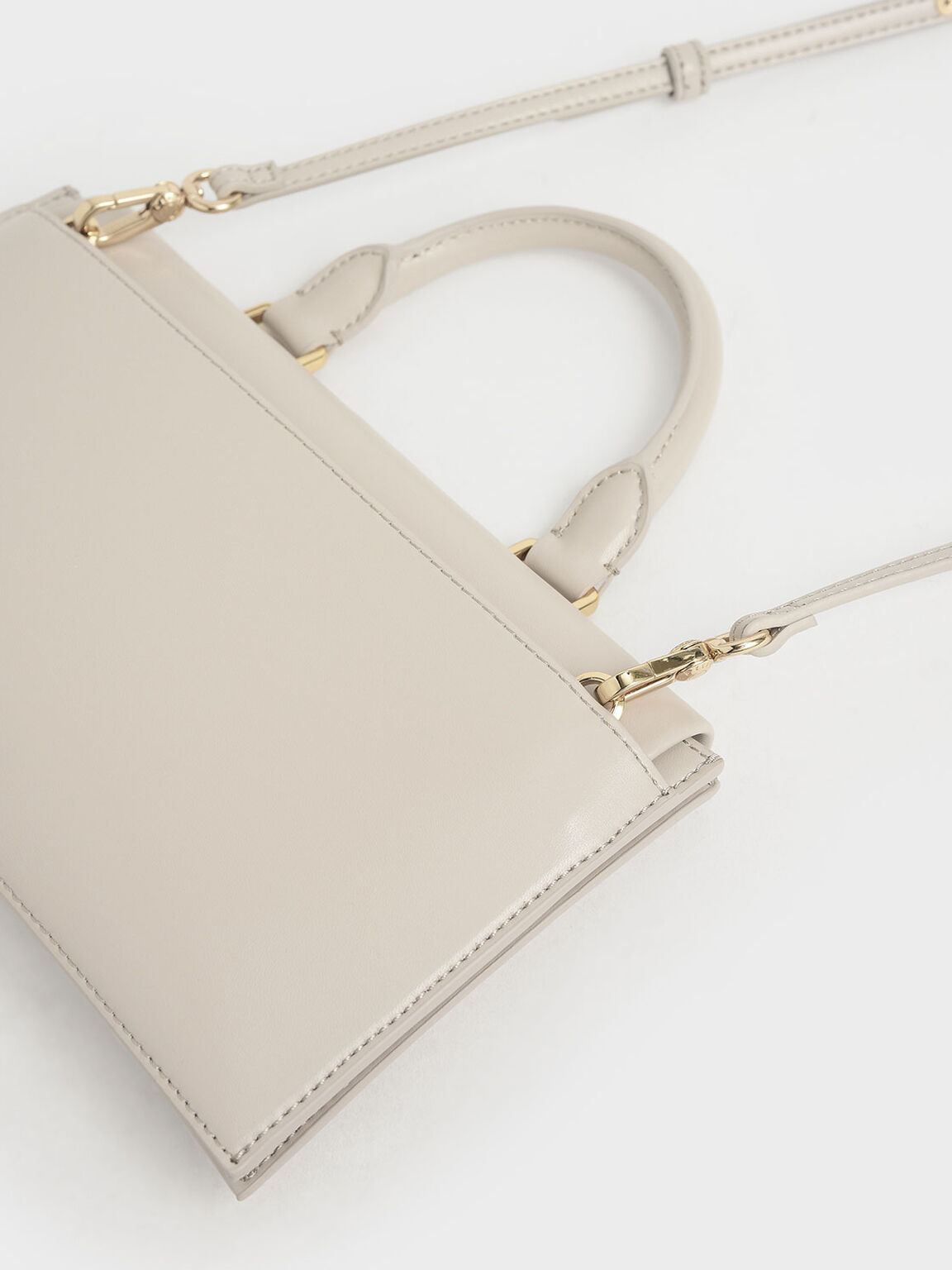 Rectangular Top Handle Bag, Nude, hi-res