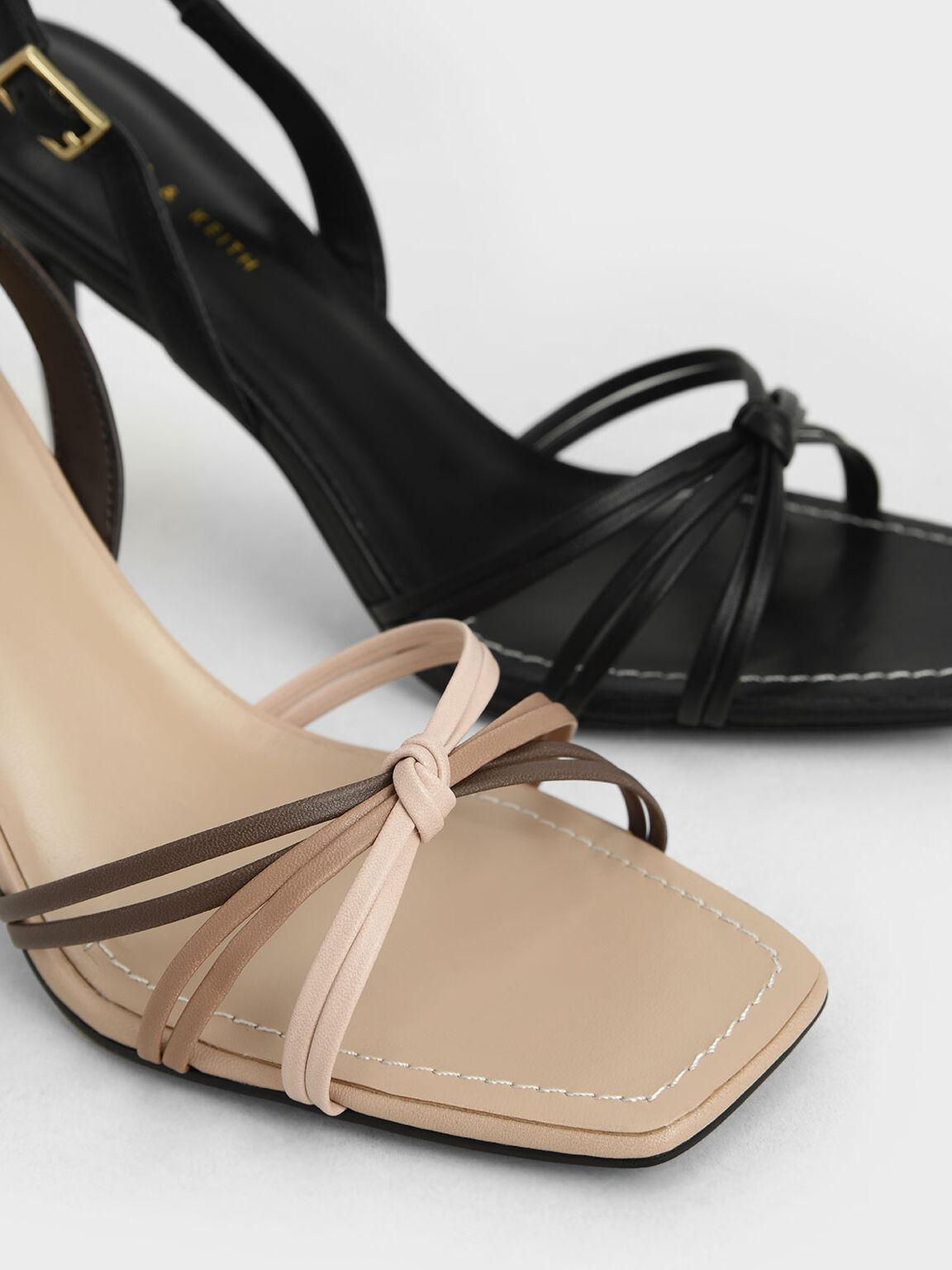 編織高跟涼鞋, 膚色, hi-res
