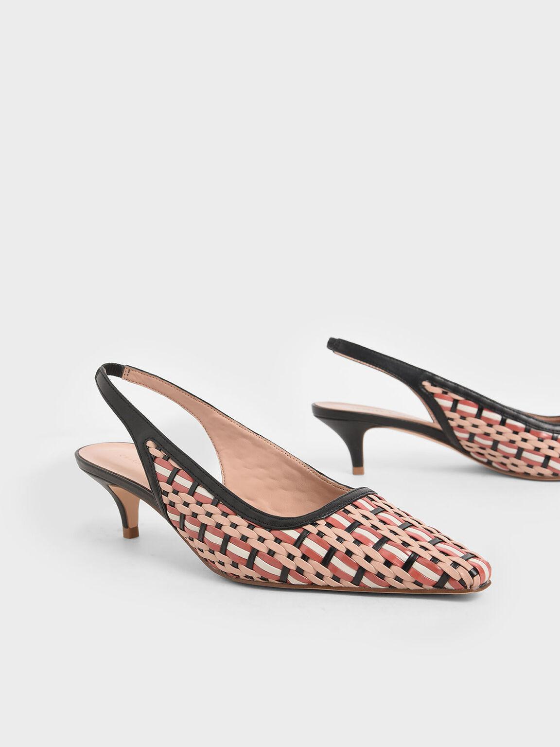 編織低跟鞋, 混色, hi-res