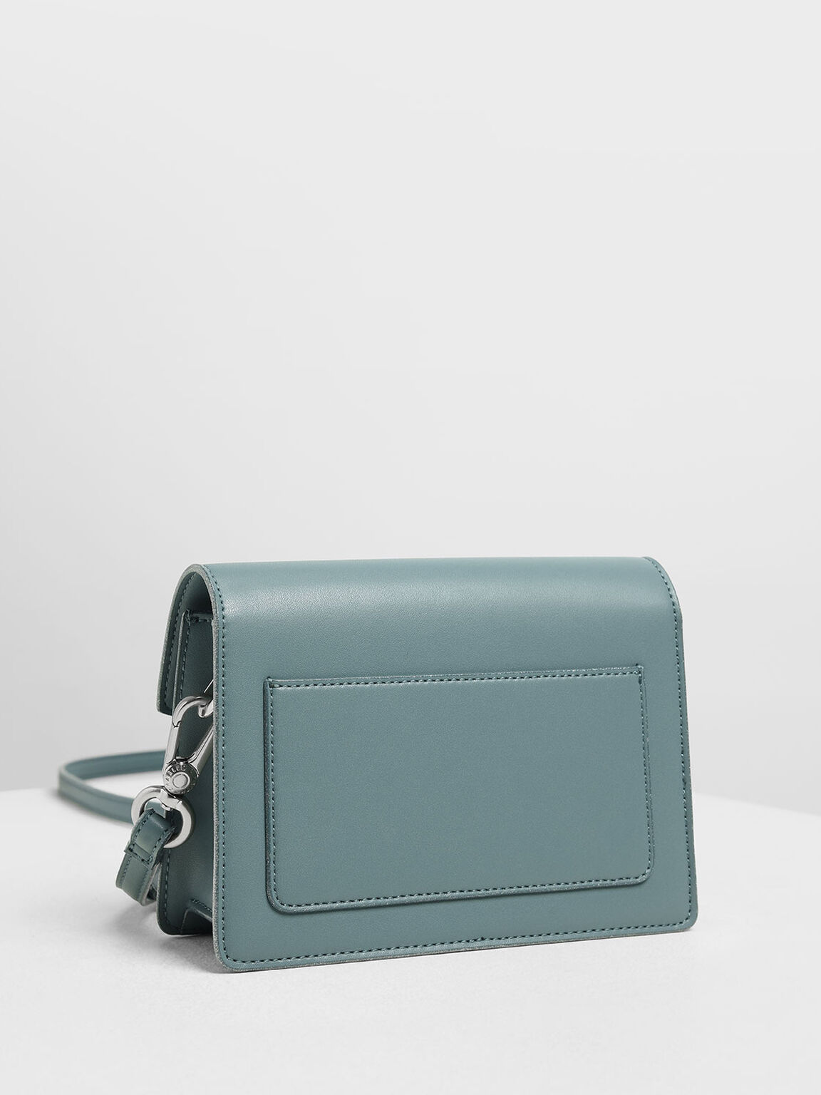Front Flap Crossbody Bag, Teal, hi-res