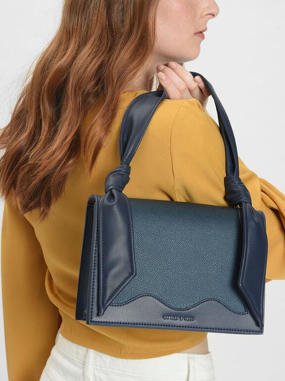 Knot Detail Handle Bag, Teal
