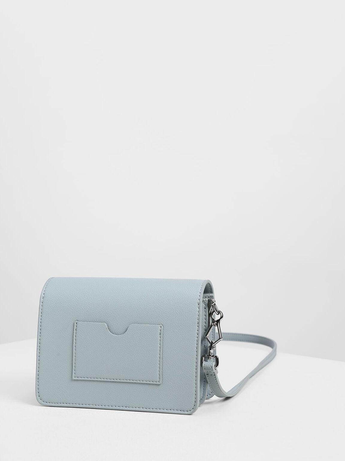 Tassel Shoulder Bag, Slate Blue, hi-res