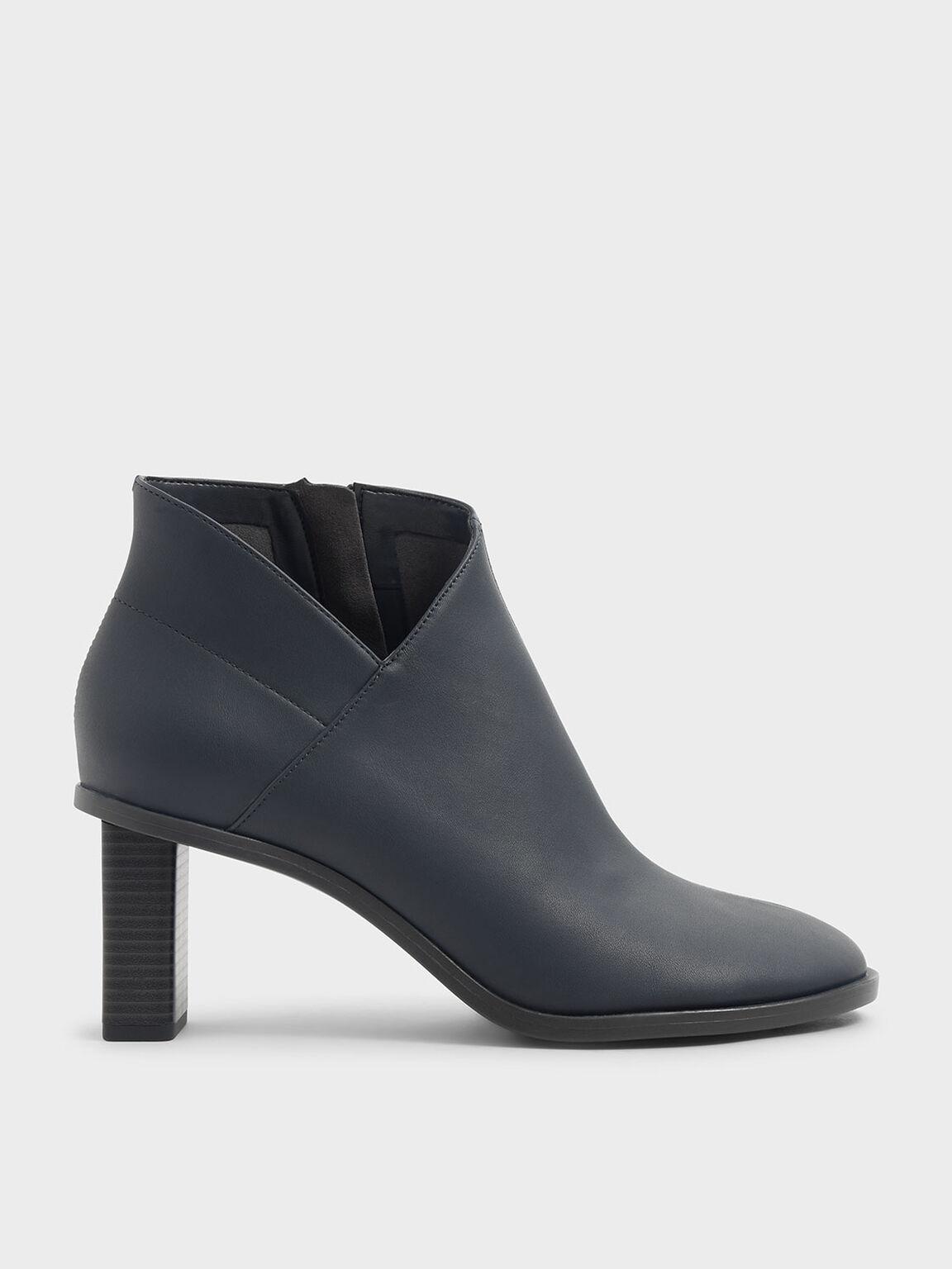 Stitch Trim Ankle Boots, Grey, hi-res