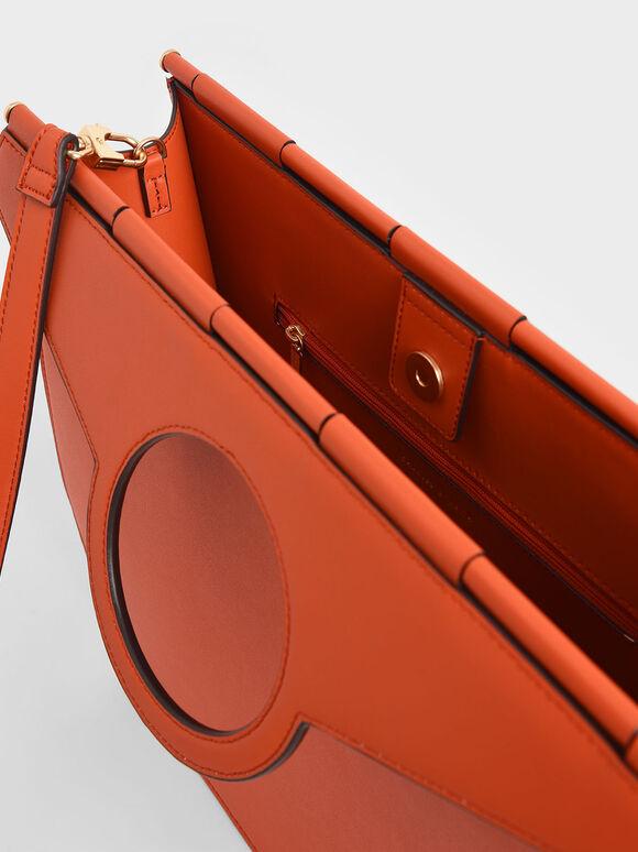 Geometric Tote Bag, Orange, hi-res