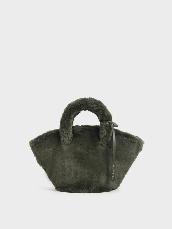 Textured Trapeze Bag, Olive, hi-res
