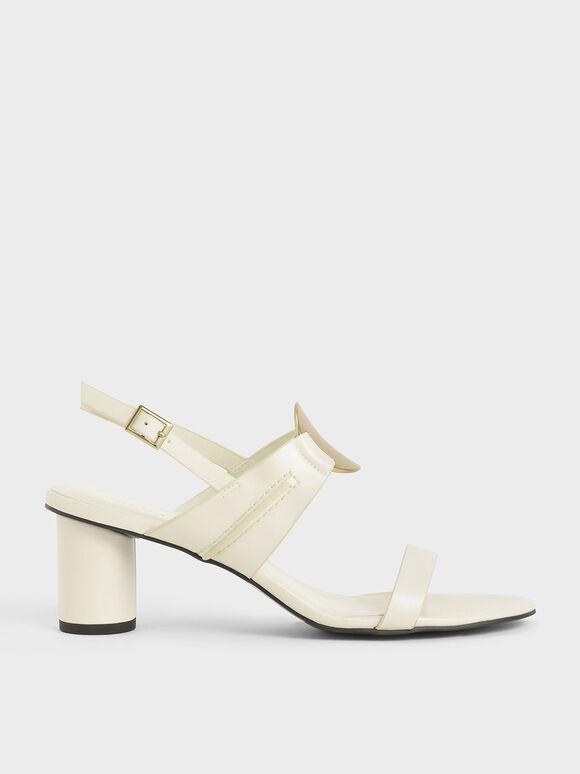 金屬片粗跟涼鞋, 石灰白, hi-res