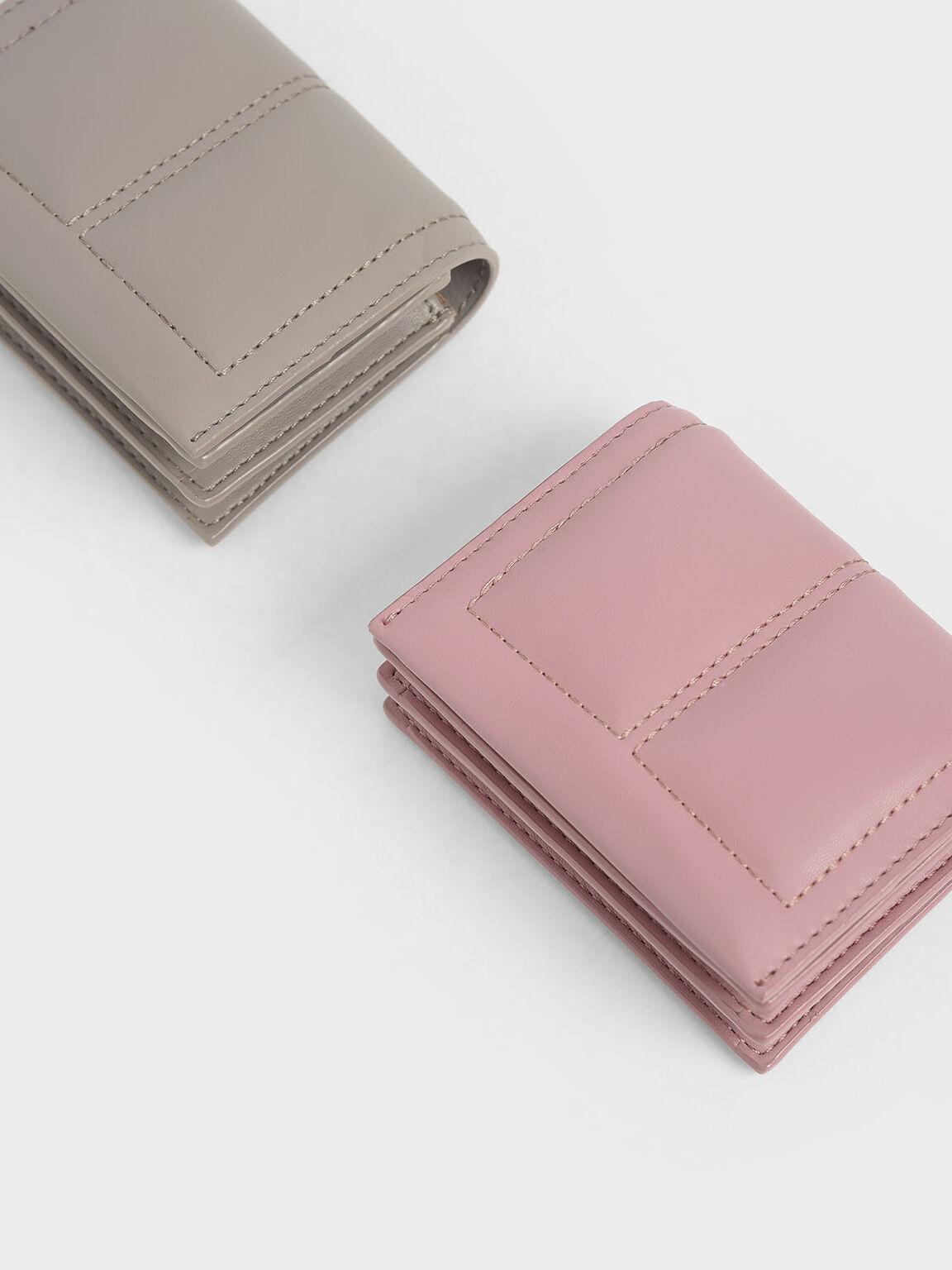 Quilted Card Holder, Pink, hi-res