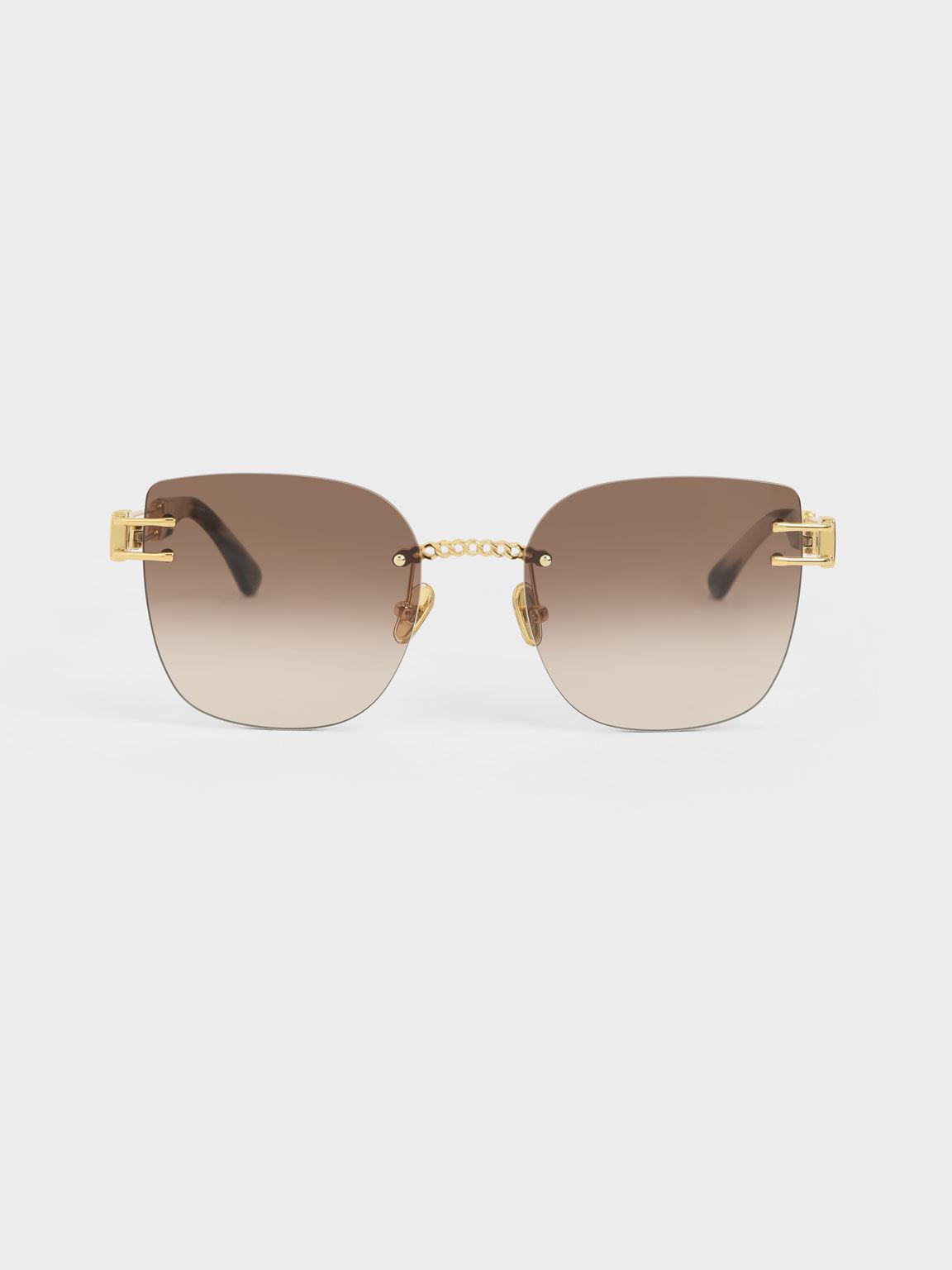 縷空造型墨鏡, 金色, hi-res