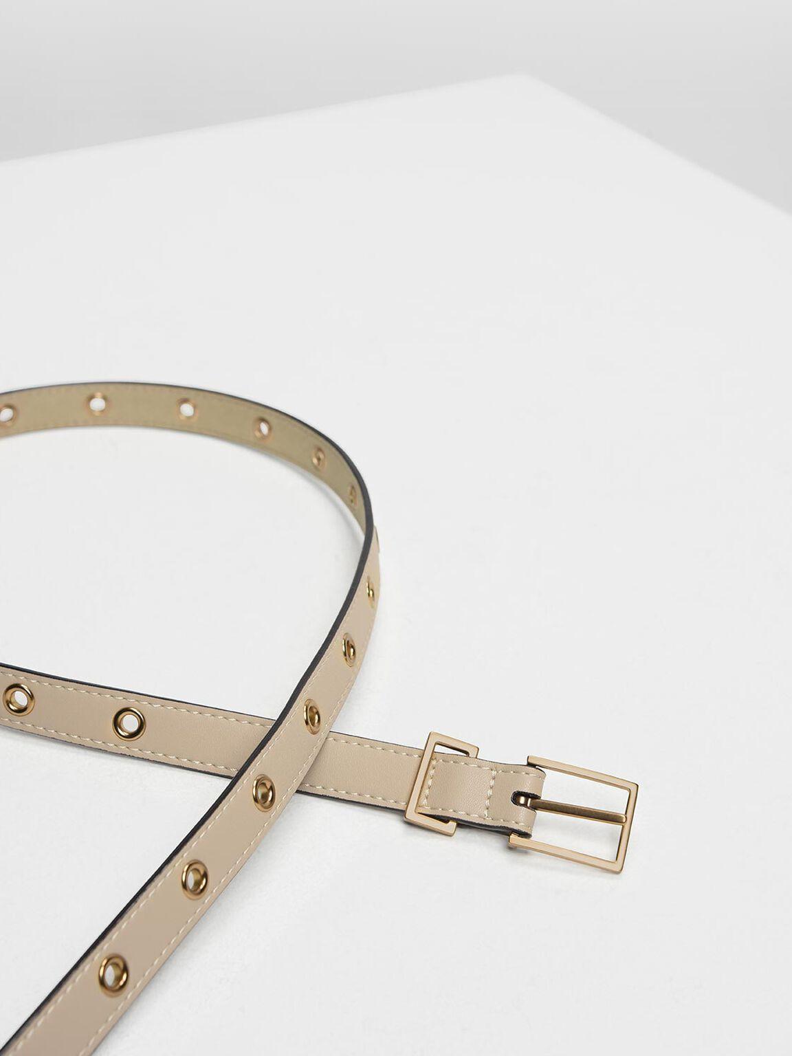 Grommet Belt, Sand, hi-res