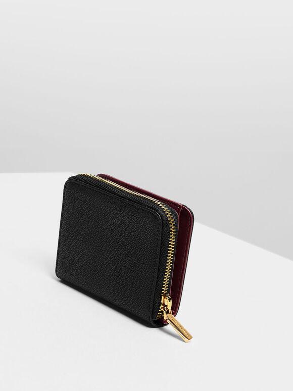 Classic Zip Mini Wallet, Black, hi-res