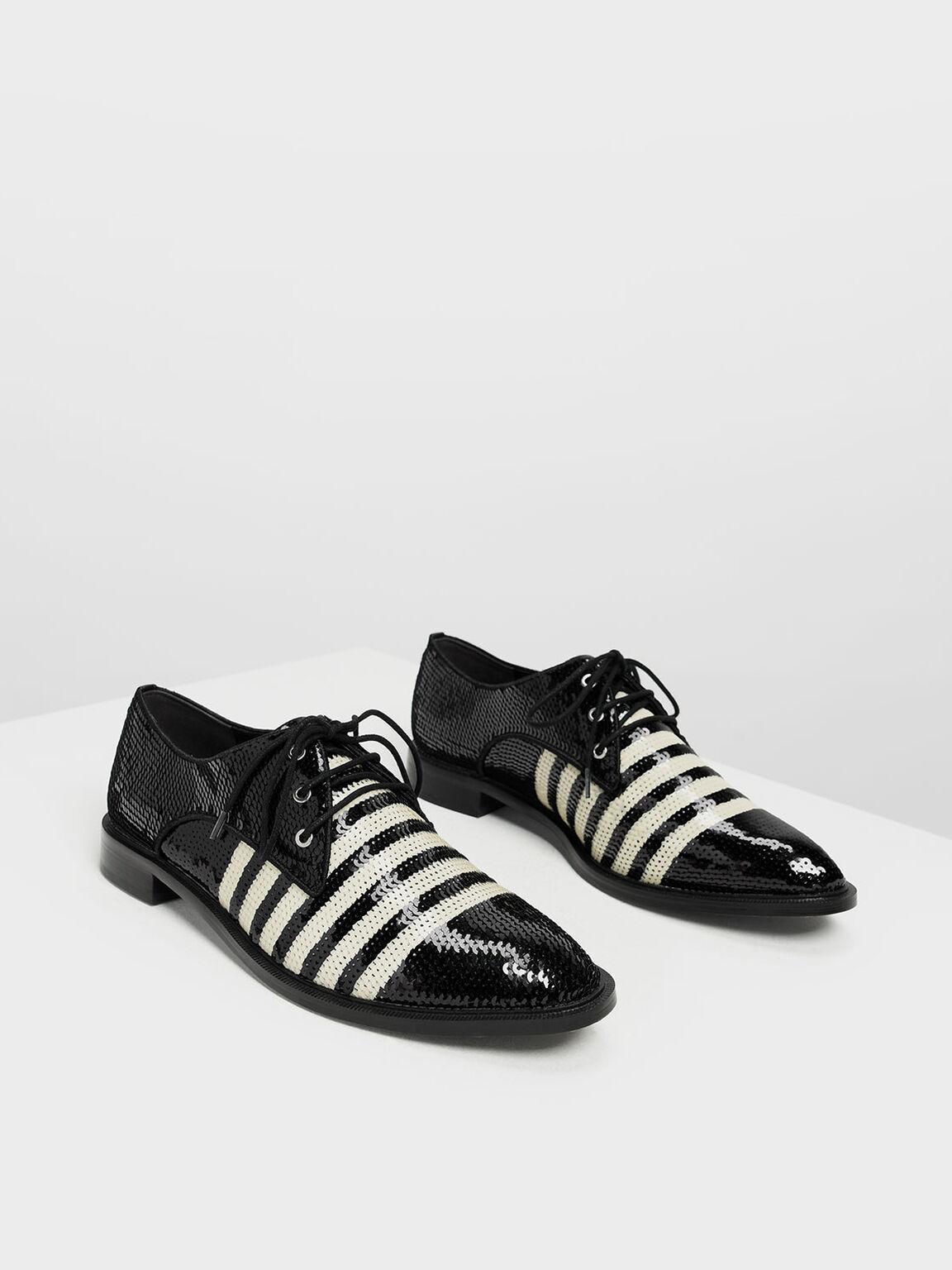 亮片德比鞋, 黑色特別款, hi-res