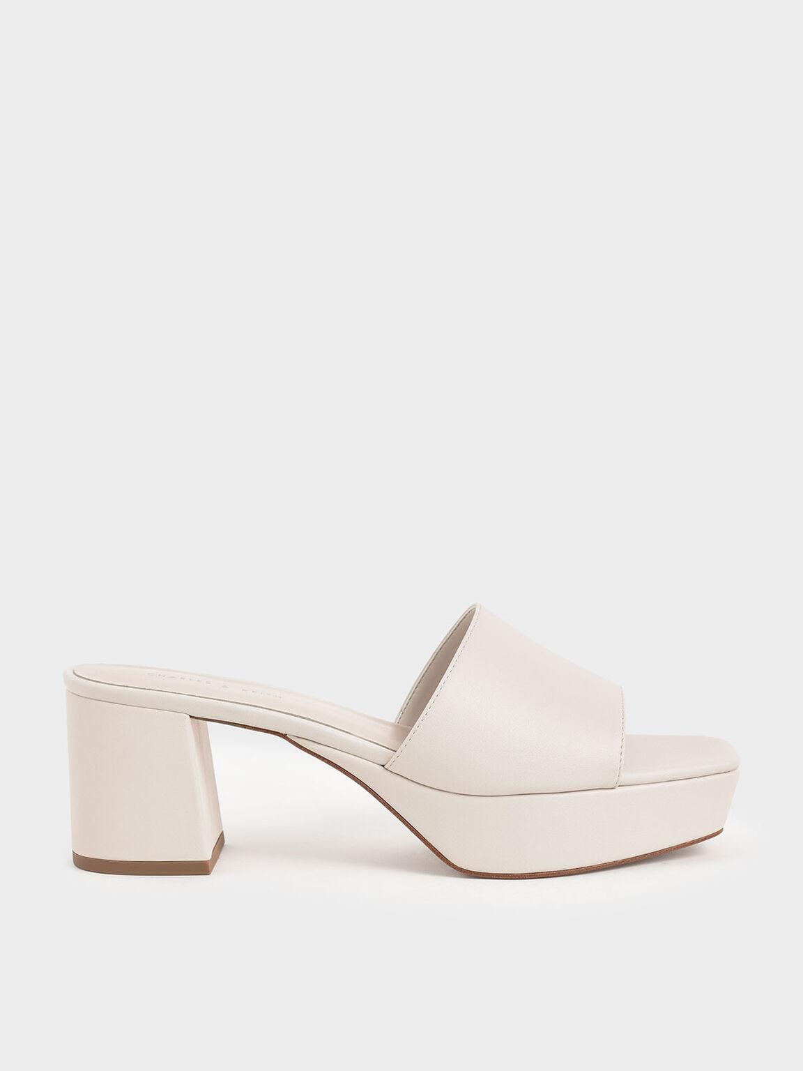 寬面厚底拖鞋, 石灰白, hi-res