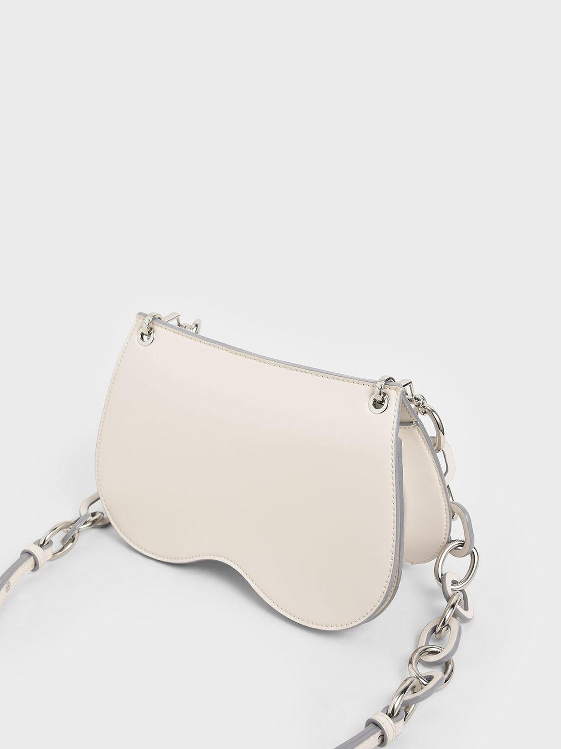 Eyelet Crossbody Bag, Chalk, hi-res