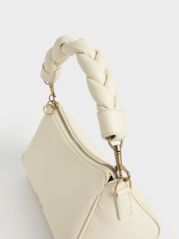 Braided Handle Bag, Chalk, hi-res