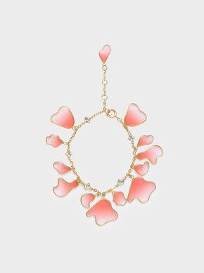 Crystal & Acrylic Petal Bracelet, Pink