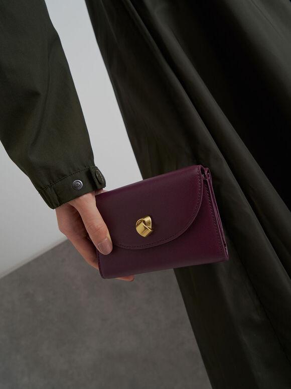 Mini Front Flap Wallet, Purple, hi-res