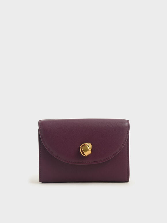 Mini Front Flap Wallet, Purple, hi-res