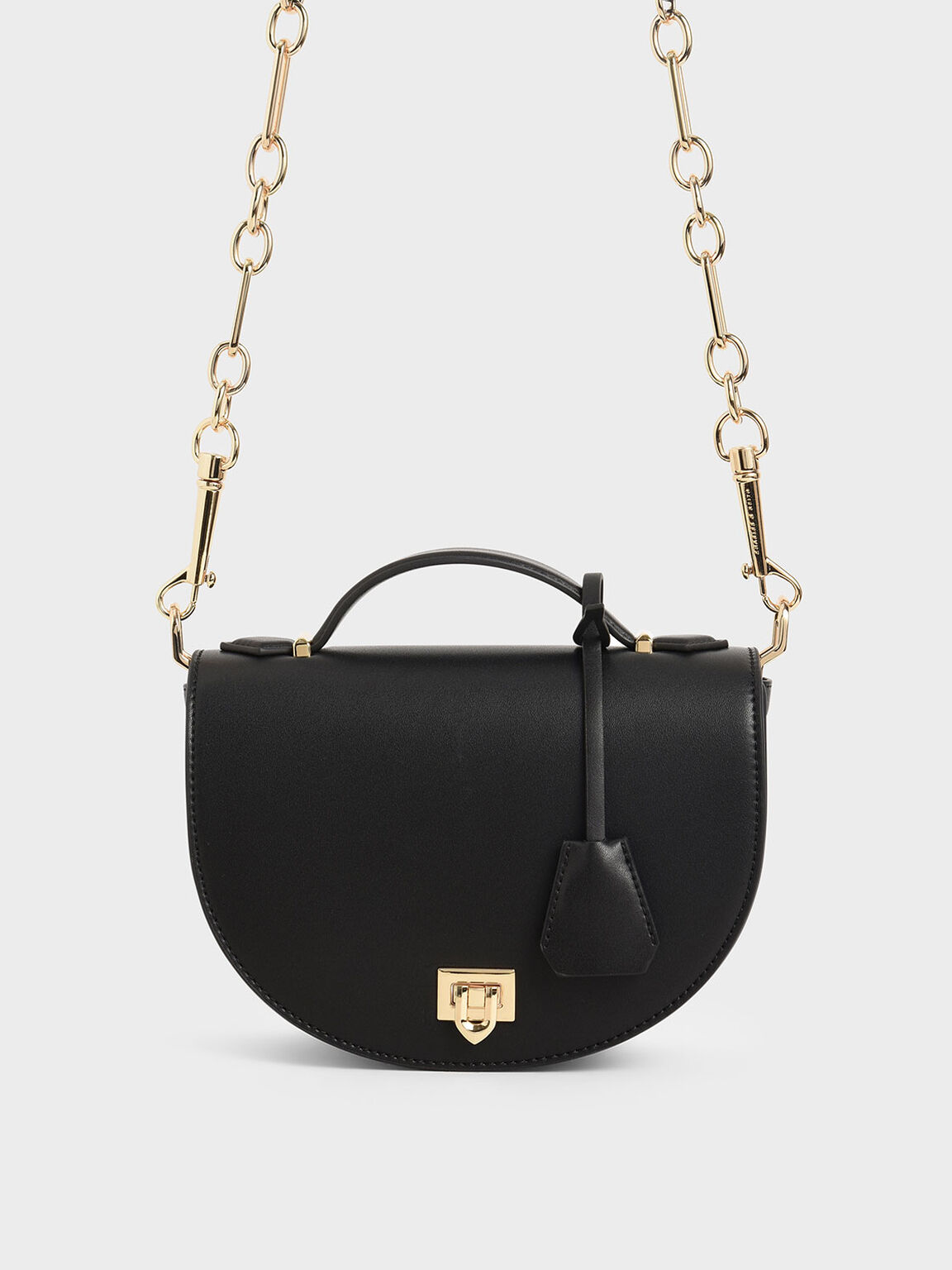 Top Handle Saddle Bag, Black, hi-res