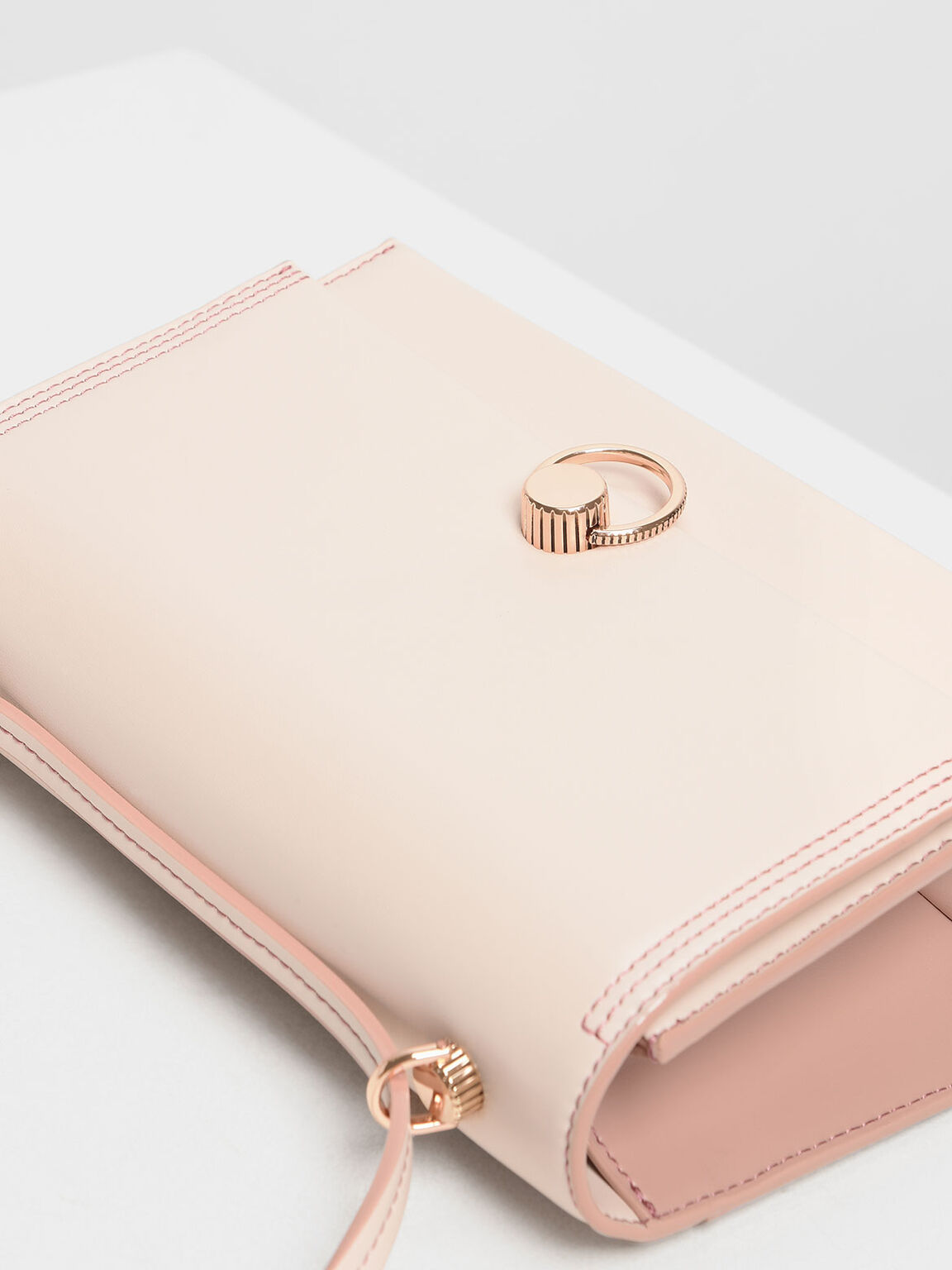 Double Strap Shoulder Bag, Light Pink, hi-res