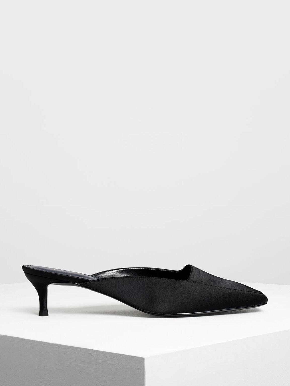 方頭穆勒鞋, 黑色, hi-res