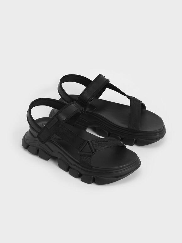 Dash Chunky Sandals, Black, hi-res