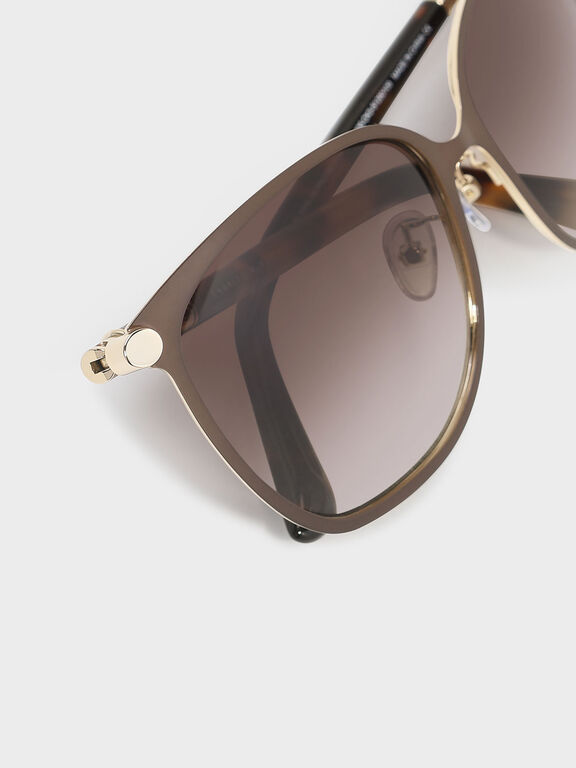 Oversized Shades, Brown