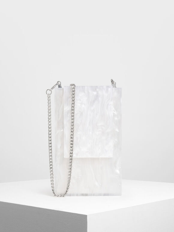Resin Clutch, White, hi-res