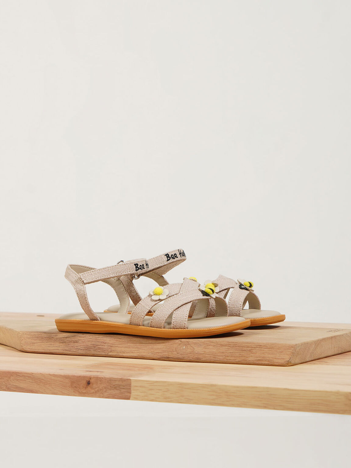 The Purpose Collection - Girls' Bee Flat Sandals, Beige, hi-res