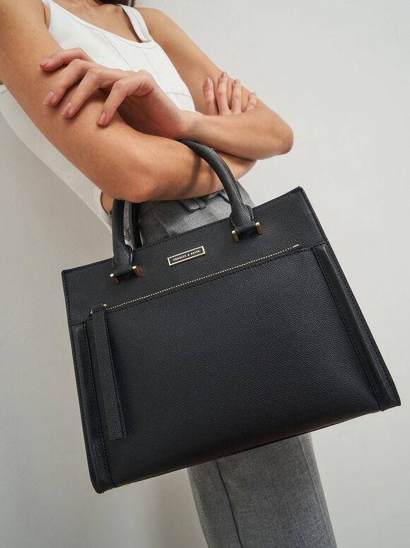 都會手提包, 黑色, hi-res