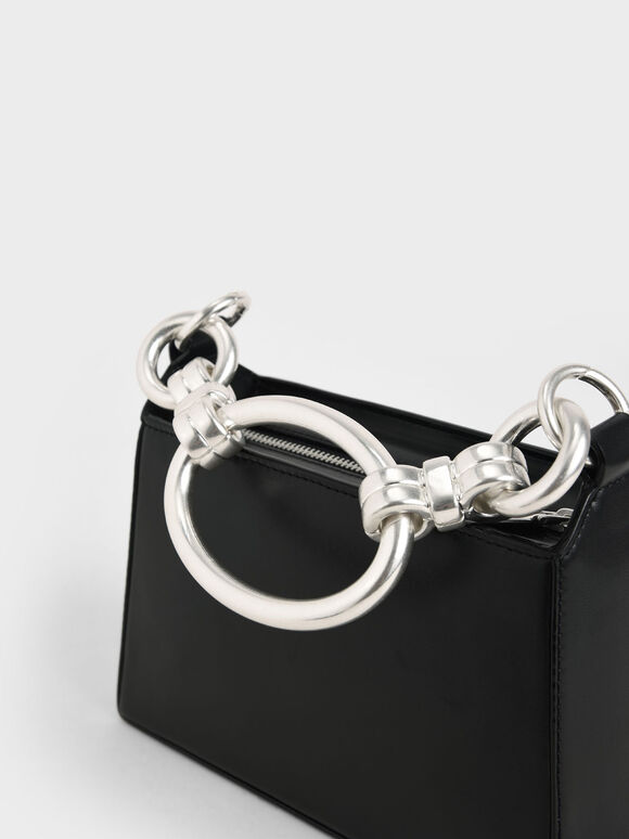 Ring Handle Bag, Black, hi-res