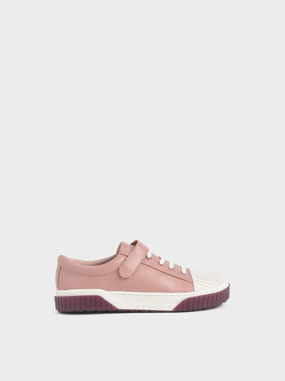 兒童拼接橡膠底球鞋, 粉紅色, hi-res