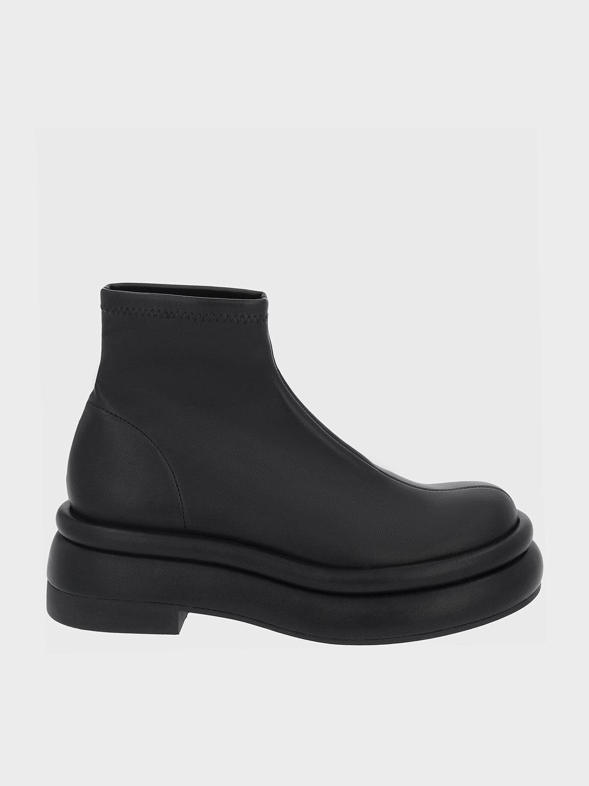 Nola 厚底短靴, 黑色, hi-res