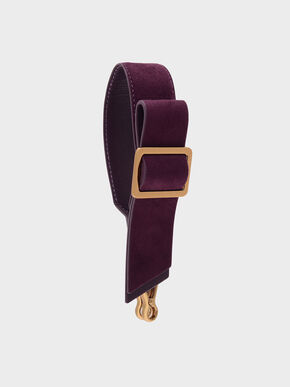 Buckled Bow Detail Mini Strap, Purple