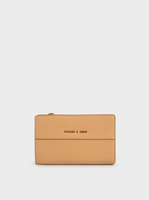 Snap Button Small Wallet, Nude, hi-res